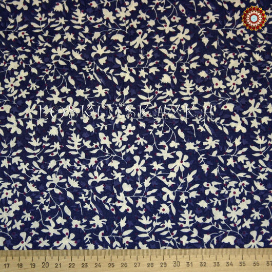 Ткань хлопок `Лесная поляна синий`. Код товара: DFS-00038