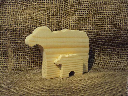 Пазл Овечка с ягнёнком, деревянная игрушка ручной работы