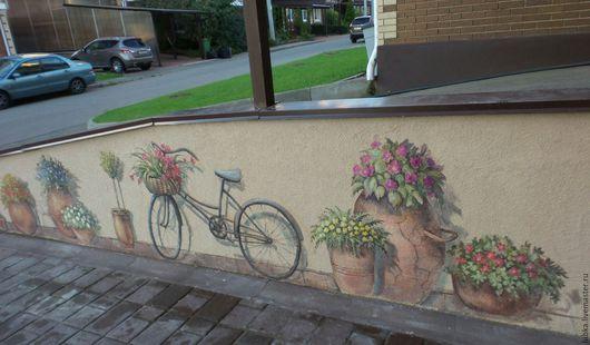 Декор поверхностей ручной работы. Ярмарка Мастеров - ручная работа. Купить Роспись фасада на улице. Handmade. Комбинированный
