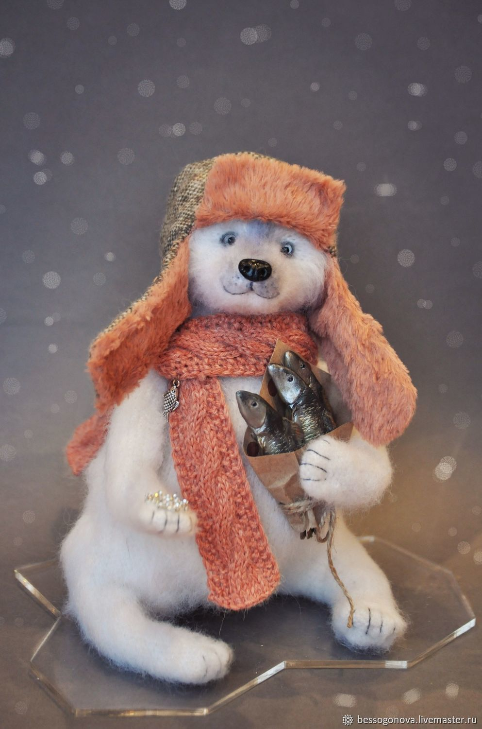 GIFTS from the NORTH polar Bear white, Teddy Bears, Severodvinsk,  Фото №1