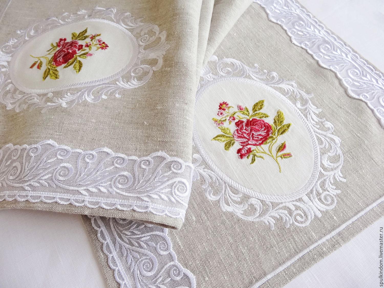 Track embroidered `Vintage rose`  `Sulkin house` embroidery workshop