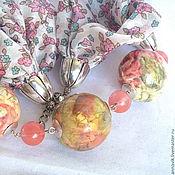 """Украшения ручной работы. Ярмарка Мастеров - ручная работа Комплект """"Розовый сад"""". Handmade."""