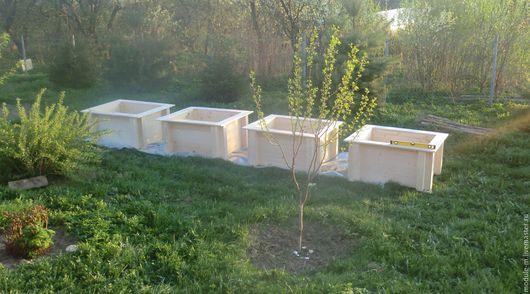 Экстерьер и дача ручной работы. Ярмарка Мастеров - ручная работа. Купить Высокие грядки из дерева для Вашего сада. Handmade. Белый