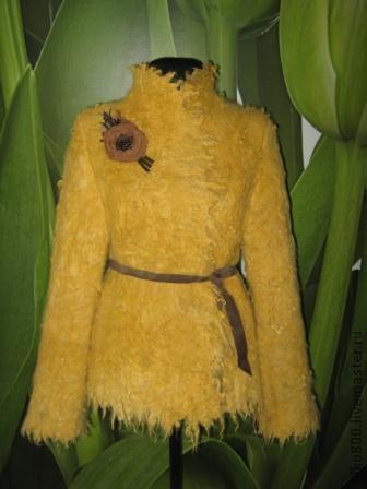 """Пиджаки, жакеты ручной работы. Ярмарка Мастеров - ручная работа. Купить Жакет """"Лимонный"""". Handmade. Желтый, шерсть"""