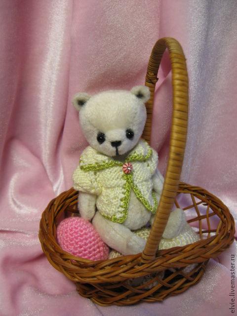 Мишки Тедди ручной работы. Ярмарка Мастеров - ручная работа. Купить Мишка.. Handmade. Белый, мишка в одежке