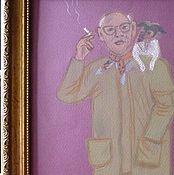 Картины и панно ручной работы. Ярмарка Мастеров - ручная работа Живописный аглицкий джентльмен с собачкой. Handmade.