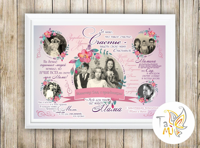 Постер с фотографиями на день матери