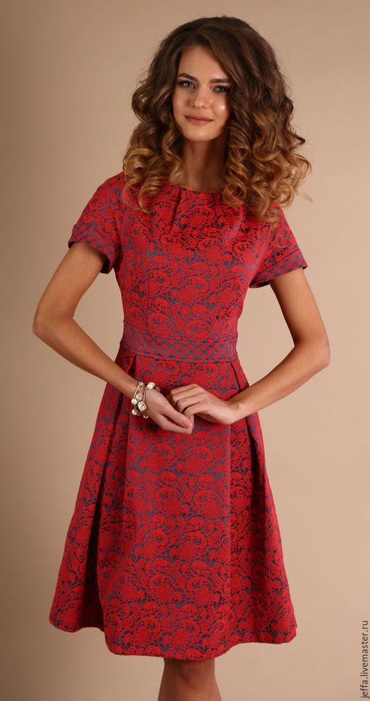 Платья ручной работы. Ярмарка Мастеров - ручная работа. Купить Платье Крешель арт.5402. Handmade. Коралловый, модная одежда