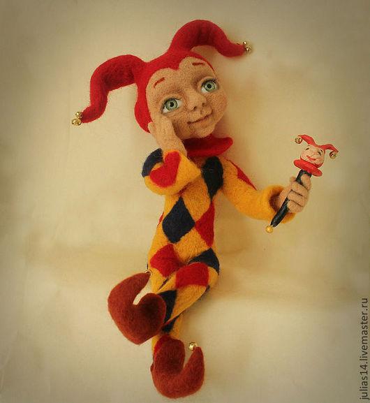 Коллекционные куклы ручной работы. Ярмарка Мастеров - ручная работа. Купить Арлекин. Handmade. Кукла ручной работы, арлекин