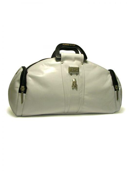 """Спортивные сумки ручной работы. Ярмарка Мастеров - ручная работа. Купить Фитнес сумка из кожи """"White trip"""". Handmade. Белый"""