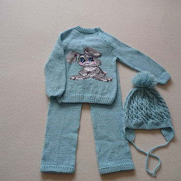 Works for children handmade. Livemaster - original item Clothing Sets: Baby Bunny Set. Handmade.