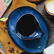 Посуда handmade. Livemaster - original item teacups: Frigga Flower Mug 300 ml and Saucer. Handmade.