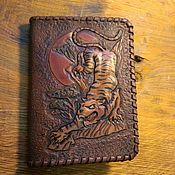 Сумки и аксессуары handmade. Livemaster - original item Passport cover made of genuine leather vegetable tanned.. Handmade.