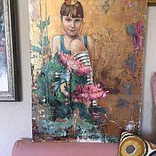Картины ручной работы. Ярмарка Мастеров - ручная работа Картины: Папина принцесса. Handmade.