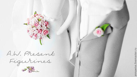 Свадебные аксессуары ручной работы. Ярмарка Мастеров - ручная работа. Купить Свадебные фигурки на торт. Handmade. Свадьба, полимерная глина