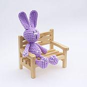 Куклы и игрушки ручной работы. Ярмарка Мастеров - ручная работа Зайка Сиреневый. Handmade.