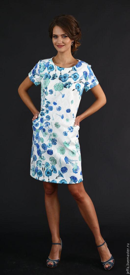 Платья ручной работы. Ярмарка Мастеров - ручная работа. Купить Платье Джанния арт.5127. Handmade. Синий, платье на праздник