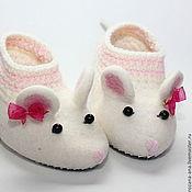 Обувь ручной работы. Ярмарка Мастеров - ручная работа Валяные тапочки-мышки N164. Handmade.