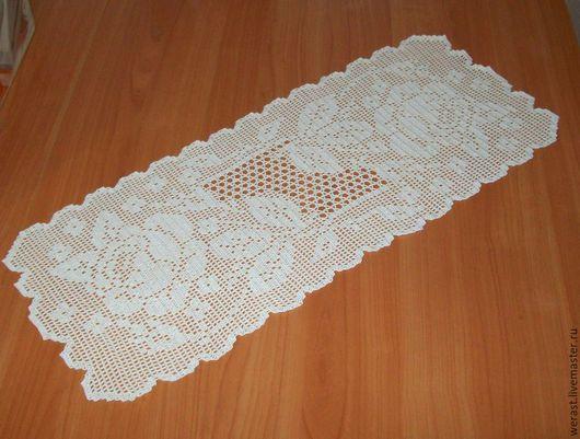 """Текстиль, ковры ручной работы. Ярмарка Мастеров - ручная работа. Купить салфетка """"Юлия"""". Handmade. Белый, салфетка ажурная"""