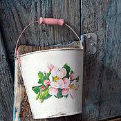 """Для дома и интерьера ручной работы. Ярмарка Мастеров - ручная работа """"Яблонька"""" ведёрко для дома, для сада. Handmade."""