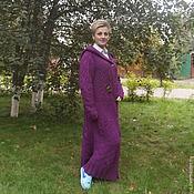 Одежда ручной работы. Ярмарка Мастеров - ручная работа Пальто вязаное Осенний фиолет (продано). Handmade.