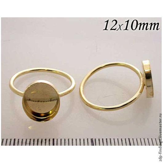 Для украшений ручной работы. Ярмарка Мастеров - ручная работа. Купить Основа Gold filled для кольца с кабошоном 12х10мм р-р18 (R1210GF). Handmade.