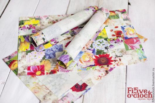 Текстиль, ковры ручной работы. Ярмарка Мастеров - ручная работа. Купить Набор плейсматов Цветочное фотопопури. Handmade. Разноцветие, плейсматы