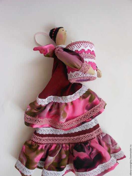 Куклы Тильды ручной работы. Ярмарка Мастеров - ручная работа. Купить Тильда Хранительница ватных дисков и палочек. Handmade.