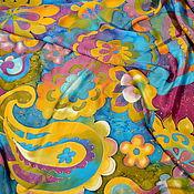 Аксессуары handmade. Livemaster - original item Silk scarf batik Rosie. Handmade.
