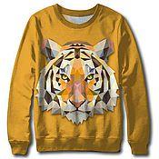 """Одежда ручной работы. Ярмарка Мастеров - ручная работа Свитер с принтом """"Векторный тигр"""" - подарок на все случаи жизни. Handmade."""