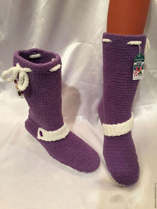 Обувь ручной работы. Ярмарка Мастеров - ручная работа. Купить сапоги вязанные осень/весна. Handmade. Сапоги женские, снуд вязаный