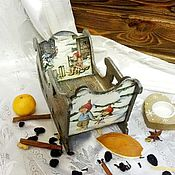 Подарки к праздникам handmade. Livemaster - original item The Christmas sleigh, candy dish, decoupage. Handmade.