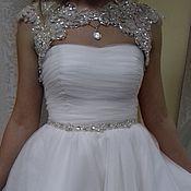 Свадебный салон handmade. Livemaster - original item Short wedding dress with Bolero .. Handmade.