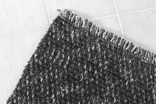 """Текстиль, ковры ручной работы. Ярмарка Мастеров - ручная работа. Купить вязаный коврик """"Шкура Дракона"""". Handmade. Черный"""