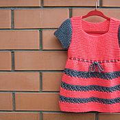 Работы для детей, ручной работы. Ярмарка Мастеров - ручная работа Вязаное платье для девочки. Handmade.