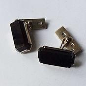Винтаж handmade. Livemaster - original item Cufflinks, silver, agate, 1972. Handmade.