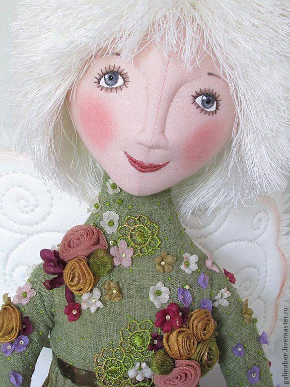Коллекционные куклы ручной работы. Ярмарка Мастеров - ручная работа. Купить Ангел Прованса. Handmade. Букет, подарок женщине, бусины