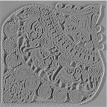 """Материалы для творчества ручной работы. Ярмарка Мастеров - ручная работа Текстурный коврик Cernit """"Индийские слоны"""". Handmade."""