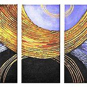"""Картины и панно ручной работы. Ярмарка Мастеров - ручная работа Абстракция """"Золотые нити"""". Handmade."""