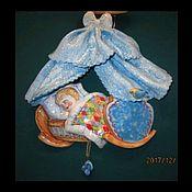 """Панно ручной работы. Ярмарка Мастеров - ручная работа Панно настенное """"Кроватка с балдахином"""". Handmade."""