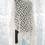 Аксессуары handmade. Livemaster - original item shawl crochet. A feather.. Handmade.