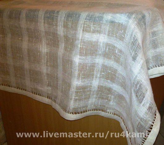 Текстиль, ковры ручной работы. Ярмарка Мастеров - ручная работа. Купить Позёмка Скатерть. Handmade. Изящная скатерть, лен