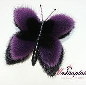 Украшения ручной работы. Ярмарка Мастеров - ручная работа Бабочка черно-фиолетовая. Handmade.