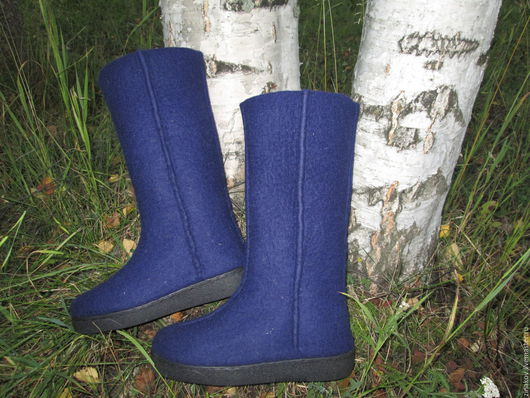 """Обувь ручной работы. Ярмарка Мастеров - ручная работа. Купить Валенки """"Вечер"""". Handmade. Тёмно-синий, обувь ручной работы"""