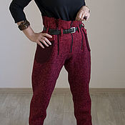 """Одежда ручной работы. Ярмарка Мастеров - ручная работа Брюки валяные """"Гранат"""". Handmade."""