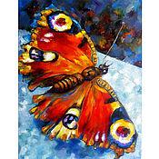 Картины ручной работы. Ярмарка Мастеров - ручная работа Картина Красная Бабочка. Handmade.