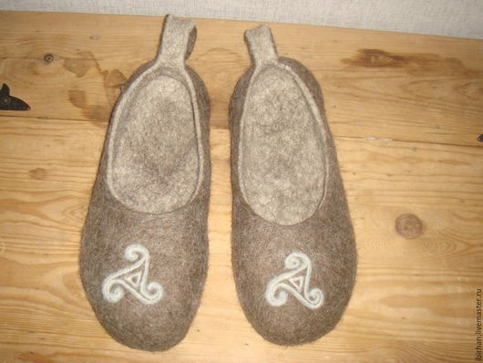 Обувь ручной работы. Ярмарка Мастеров - ручная работа. Купить Тапки валяные мужские и женские. Handmade. Тапки из войлока