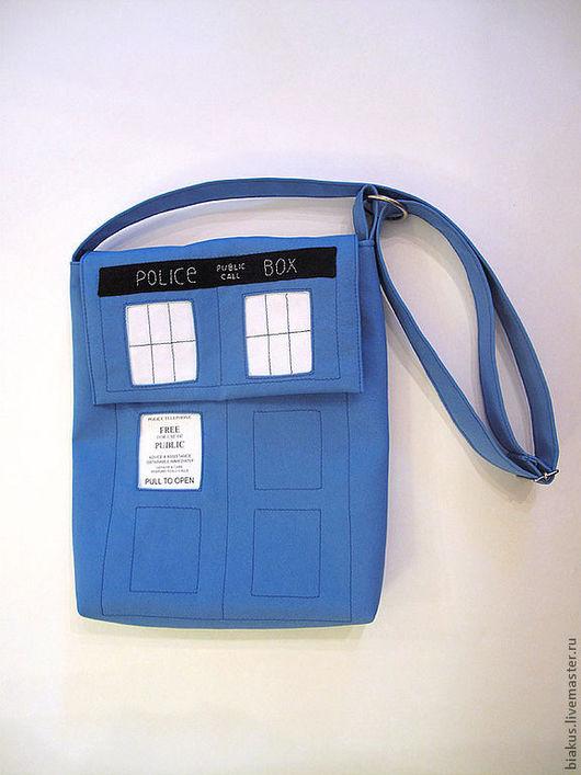 """Сумки для ноутбуков ручной работы. Ярмарка Мастеров - ручная работа. Купить сумка """"Тардис"""". Handmade. Синий, габардин"""