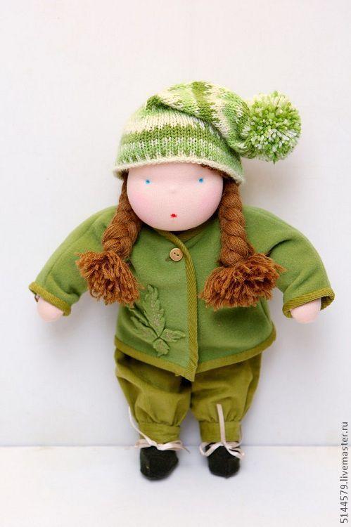 Одежда для кукол ручной работы. Ярмарка Мастеров - ручная работа. Купить Комплект одежды для Вальдорфской куклы. Handmade. Салатовый, блузка