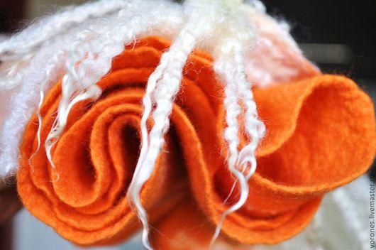 """Шарфы и шарфики ручной работы. Ярмарка Мастеров - ручная работа. Купить Шарфик """"Рыжий"""". Handmade. Кудряшки, оранжевый"""